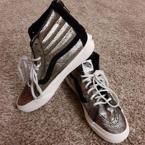 Van's sk8 high top sneakers shoes